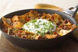 Quick Fix Beef Burrito Skillet with Beans
