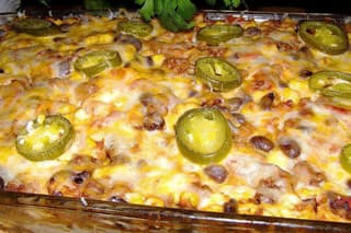 Best Mexican Beef and Black Bean Casserole Ever